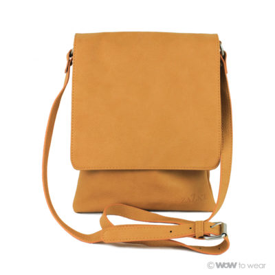 Schoudertas Cross body karamel geel 1