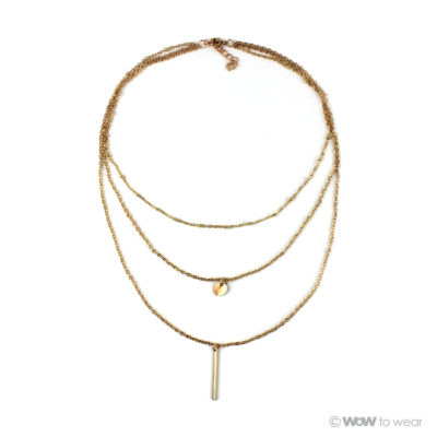 multi layer ketting goud 1